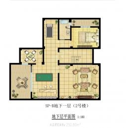 双拼B-地下室(2号楼)