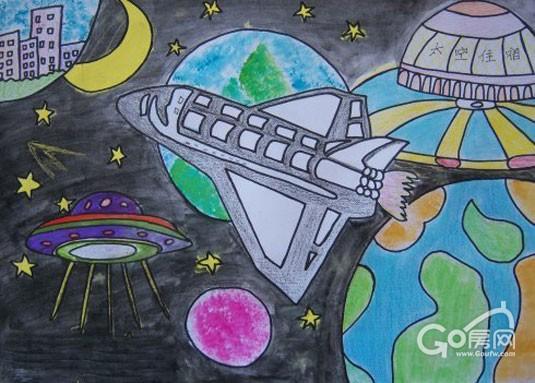 盐城电视塔儿童画