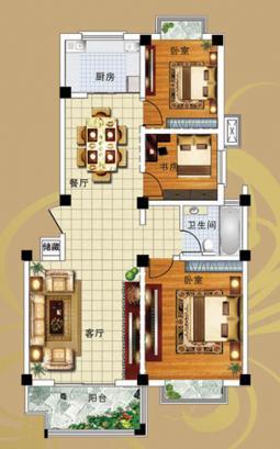 7#8#A户型三室两厅