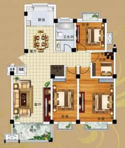 9#B户型四室两厅