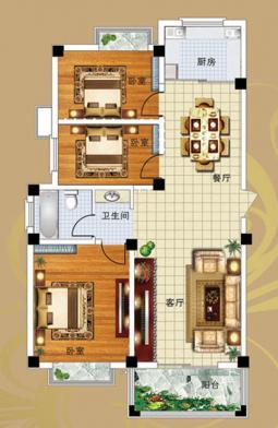 10#A户型三室两厅