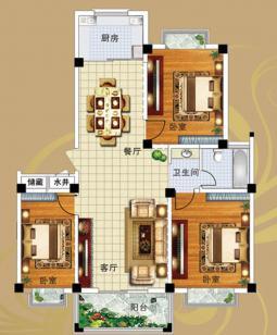 10#B户型三室两厅