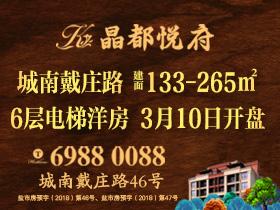 [广告]晶都悦府|6层电梯洋房 3.10开盘