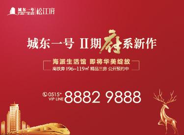 [广告]城东一号松江府 约96-119㎡精品三房公开预约中