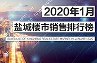2020年1月鹽城樓市銷量及各板塊住宅成交排行