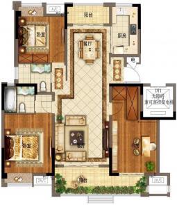 三室两厅两卫134㎡
