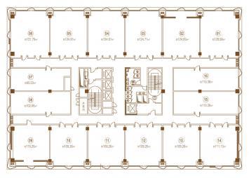 办公7-10F平面图