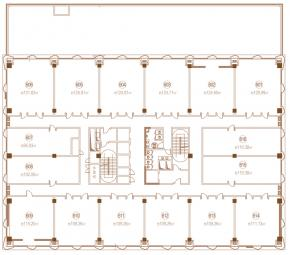 办公6F平面图