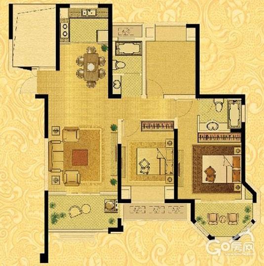 115㎡四房一厅一卫-我市单独两孩开始申请 小四房 或成购房新宠