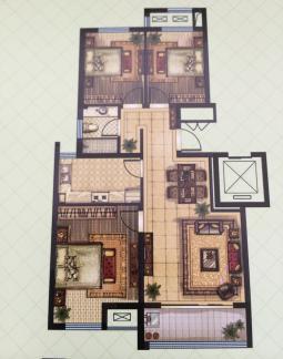三室两厅一卫户型