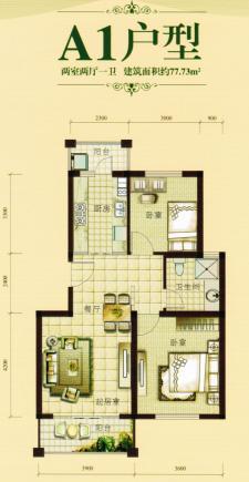 A1戶型兩室兩廳