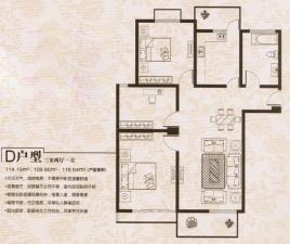 D戶型三室兩廳