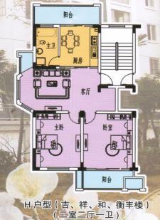 H戶型二室二廳