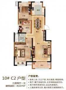 10#C2户型三房两厅