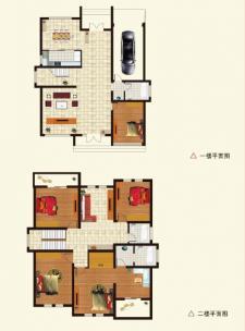 B户型别墅五室两厅两卫