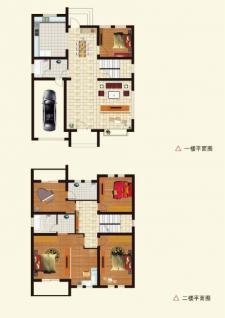 A1戶型別墅五室兩廳兩衛