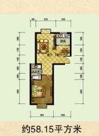 铂领公寓建筑面积58平米