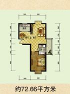 铂领公寓建筑面积72平米
