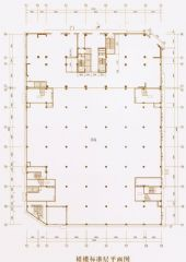 裙楼标准层平面图