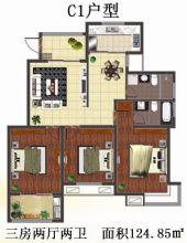 C1户型 三房两厅两卫