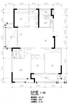 D户型四室两厅两卫