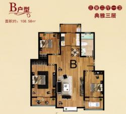 B戶型三室二廳