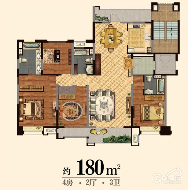 180平米-4房2厅3卫