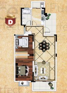 D戶型兩房兩廳
