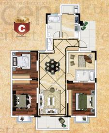 C戶型四房兩廳兩衛