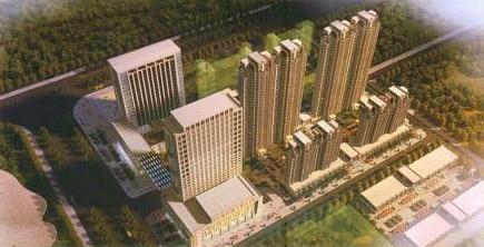 天鹅湖国际广场鸟瞰图