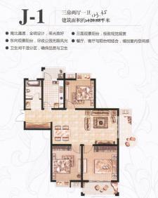 J-1户型三房两厅