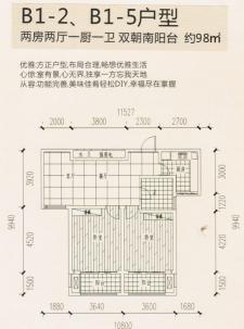 B1-2、B1-5户型两房两厅