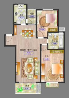 多層戶型兩室兩廳