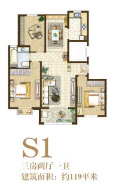S1户型三房两厅