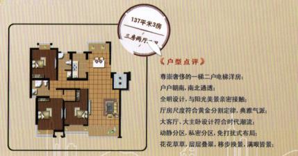 137平米三房兩廳兩衛