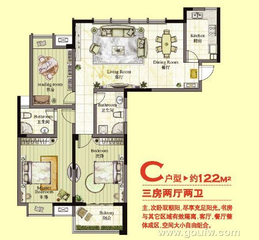 金水湾花园37-40#楼户型赏析
